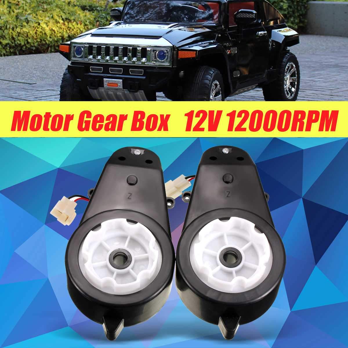 2pcs 12V 20~45W 12000 RPM Motor Gear Box For Kids Ride On Car for BMW for Audi TT Hummer for Land Rover for Jeep2pcs 12V 20~45W 12000 RPM Motor Gear Box For Kids Ride On Car for BMW for Audi TT Hummer for Land Rover for Jeep