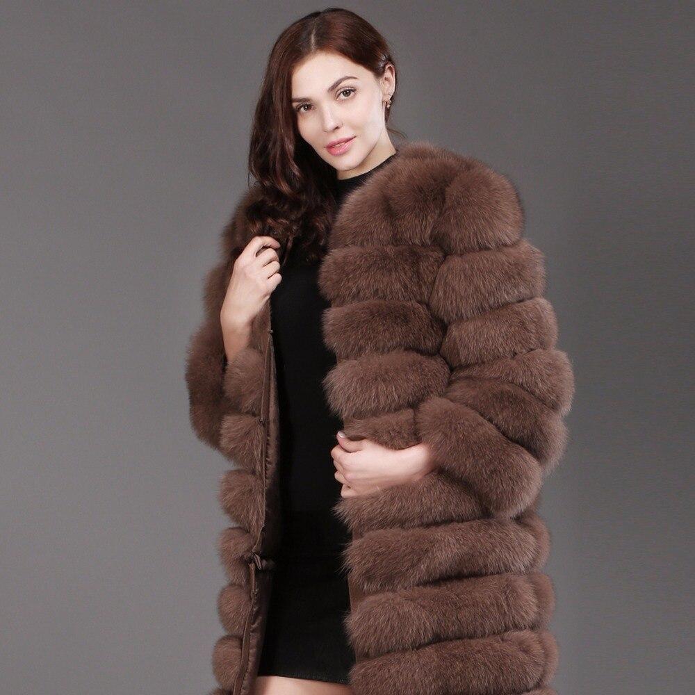 Chaud Long Femmes Femelle Renard 100 Réel Naturel Style Véritable Manteau dark Khaki Doux Vente Grey Mode Veste De Hiver Chaude Fourrure Zqx5vSx7