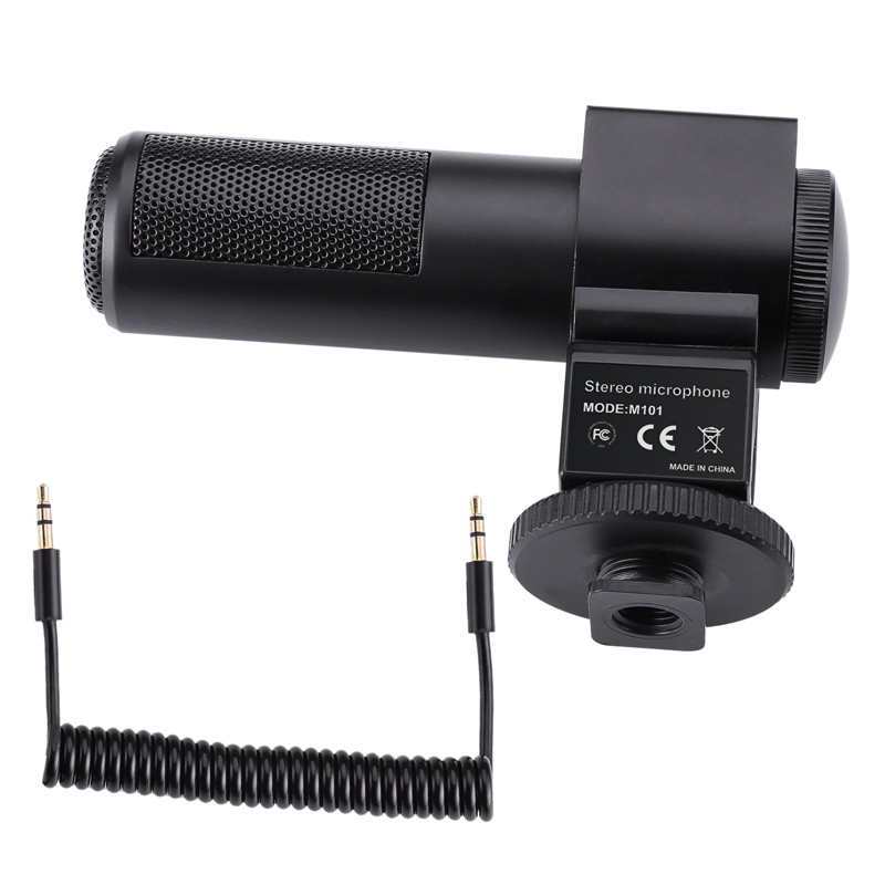 Video Microphone, Camera Interview Microphone For -Nikon Canon Dslr Camera Digital Video Camcorder (Need 3.5Mm Interface)