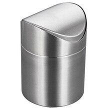 Мини-корзина для мусора Нержавеющая сталь мусорное ведро качели ведро Таблица мусорный ящик стола для мусора