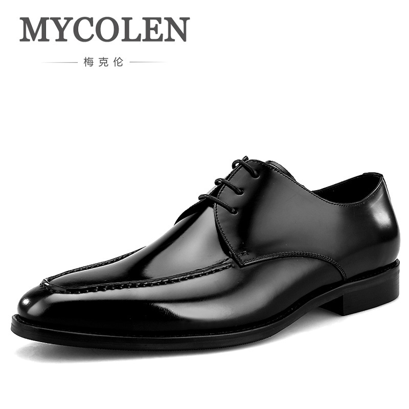 MYCOLEN 2018 Luxury Fashion Men Shoes Minimalist Design Casual Derby Shoes For Men Pointed Toe Dress Wedding Men ShoesMYCOLEN 2018 Luxury Fashion Men Shoes Minimalist Design Casual Derby Shoes For Men Pointed Toe Dress Wedding Men Shoes