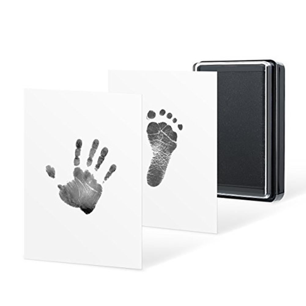 Baby Hand Foot Ink Hand Foot Print Handprint Oil Souvenir Child Newborn Hundred Days Gift Safe Ink Pad Non-Toxic Baby Footprint