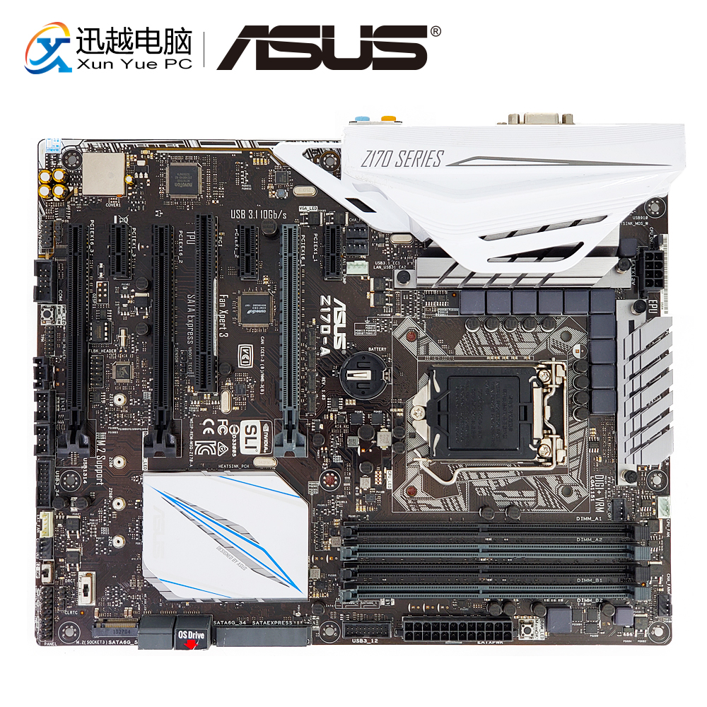 Asus Z170-A Desktop Motherboard Z170 Socket LGA 1151 i7 i5 i3 DDR4 64G M.2 SATA3 USB3.0 VGA DVI HDMI DP ATX msi z170a sli plus original new desktop motherboard z170 socket lga 1151 i3 i5 i7 ddr4 64g atx