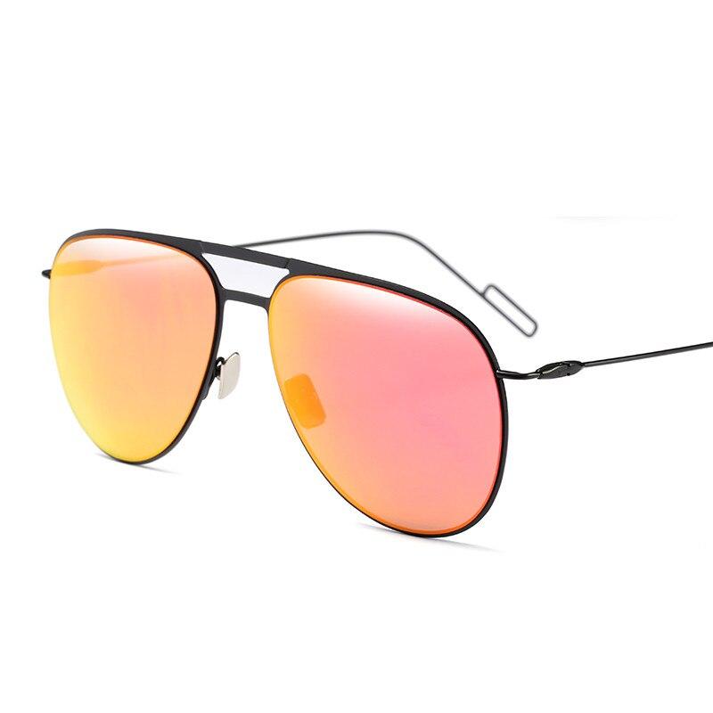 2018 Лидер продаж мода пилот металл улице выстрел Ретро Для мужчин wo Для мужчин Солнцезащитные очки для женщин Винтаж бренд звезды дизайнер ...