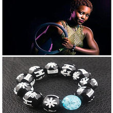 Movie Avengers 3 Black Panther Bead Bracelet Tribal marks pendant bracelet(China)