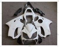 Motorcycle Unpainted White Fairing Cowl Body Work Kit For Honda CBR600F CBR 600 F F4i 2001