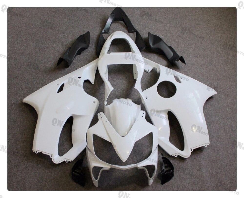 Motorcycle Unpainted White Fairing Cowl Body work Kit For Honda CBR600F CBR 600 F  F4i 2001 2002 2003 + 4 Gift