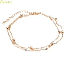 Diomedes Newest Gorgeous 1PC Hot Ball Copper Chain Anklet Anklet Foot Showcase Women Foot Jewelry Charm Chain Anklet #0224
