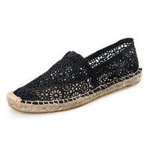 Fashion  Hot Fashion Lace Crochet Hollow Out Mary Jane Women's Shoes SlipOn Espadrille Flats For Summer Flats Loafers & Oxfords