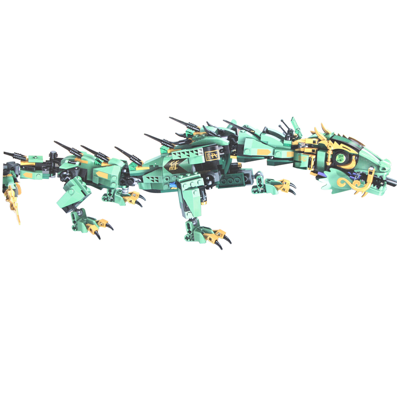 568 pz Serie Movie Volare mecha drago Building Blocks Giocattoli Dei Mattoni Per Bambini Legoing Ninjagoings 70612 Regali Ninja set