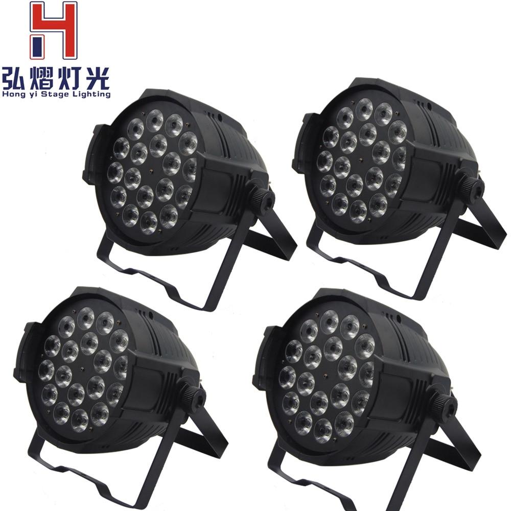 Hong Yi Stage Lighting 4pcs/lot LED par 18x12W RGBW LED Stage Wash Par Light DJ oolong wu yi yan cha da hong pao new tea 50g 1016027