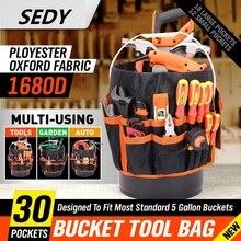SEDY 5 галлонов, сумка-Органайзер, сумка-тоут, инструментарий, сумка для сада, Наборы инструментов, 30 карманов для хранения, органайзер для инструментов, поясная сумка, сумка для инструментов