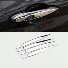 For BMW X1 F48 2016 2017 Stainless steel Car Exterior Door Handle Trim Sequins High Quality Car Accessories 8pcs