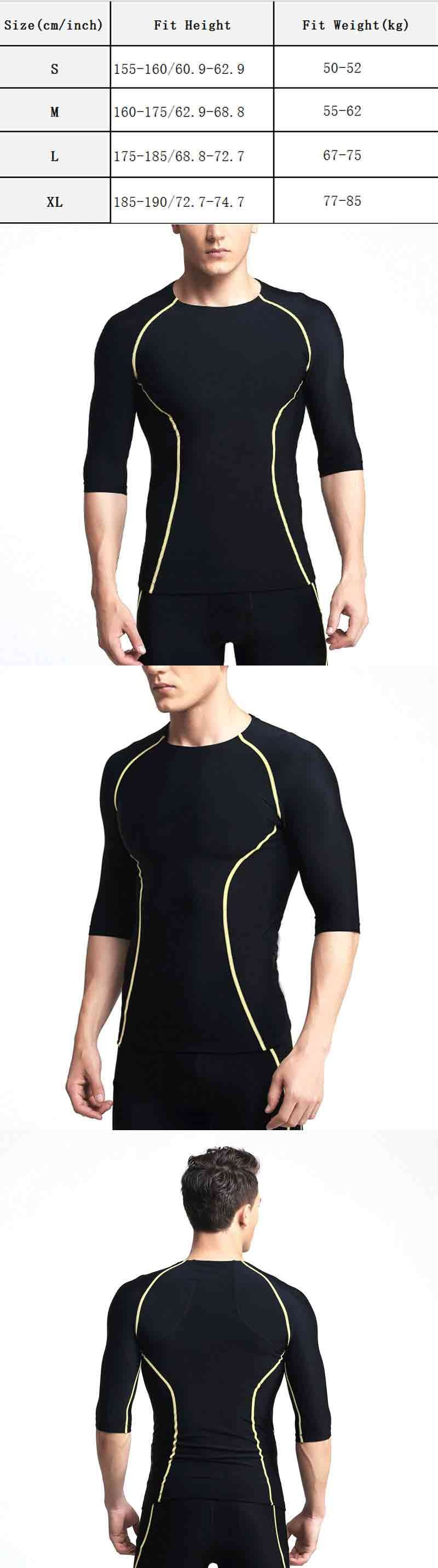 dos homens Top Camisa Térmica Esportes Novo