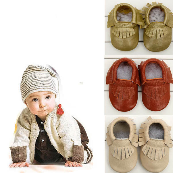 2017 Baby Moccasins Shoes Baby Soft Real Cow Leather Shoes Tassel shoe Infant Girls Bow Moccs Moccasin Bow Levert BFOF