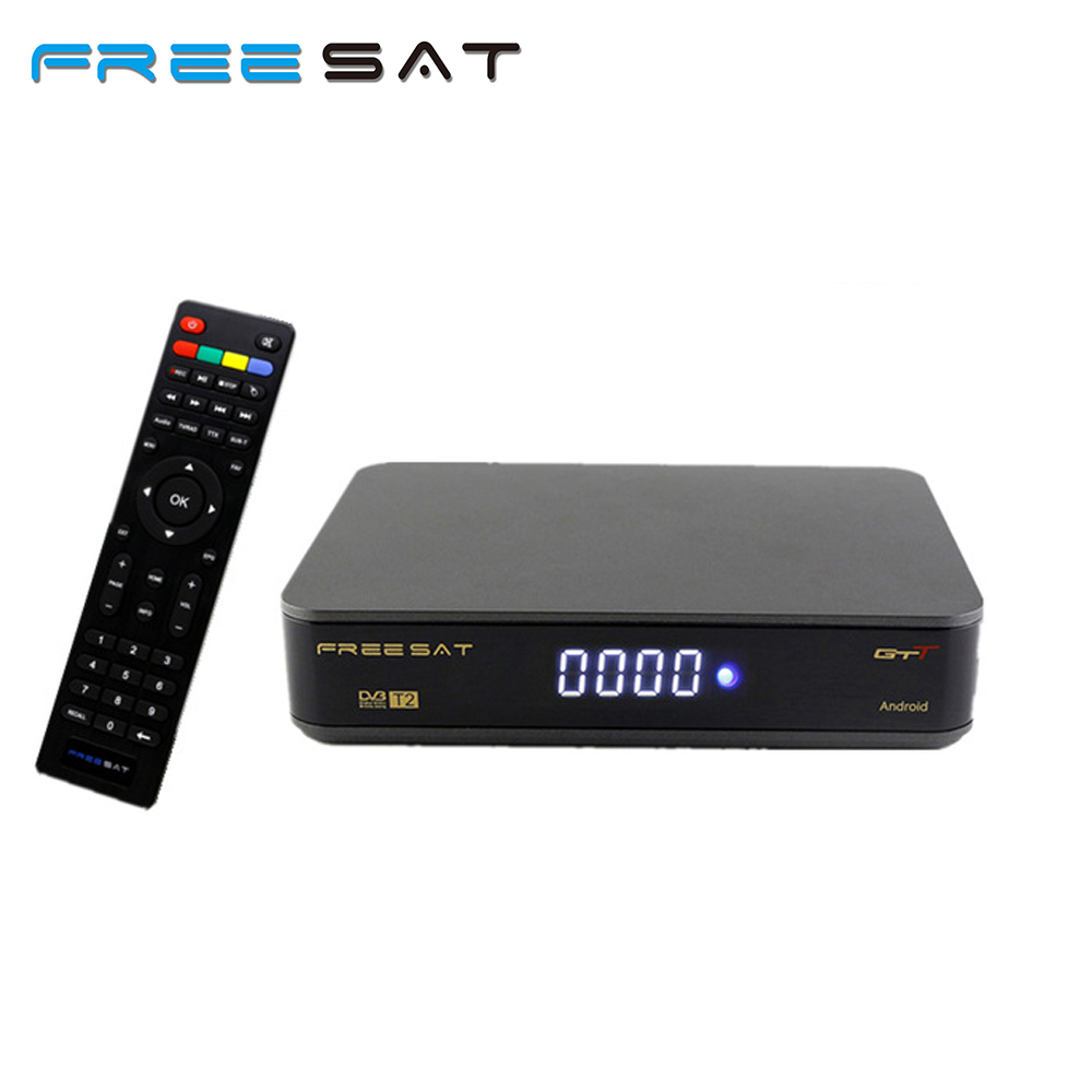FREE SAT Amlogic S905D 1G/8G Freesat GTT Android Tv Box up to 2.0 GHz support USB WIFI with satellite receiver set top box [genuine] freesat v7 dvb s2 hd with usb wifi satellite tv receiver support powervu biss key cccamd youtube youporn set top box