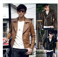 Free Shipping 2017 New Men's Clothes PU Leather Jackets Stand Collar Man's Fashion Motorcycle Slim Leather Coats M-XXXL