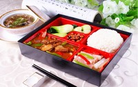 Free Shipping Japanese Food Restaurant ABS Imitate Wood Lunch Box For Sushi Removable Dimension 27 21
