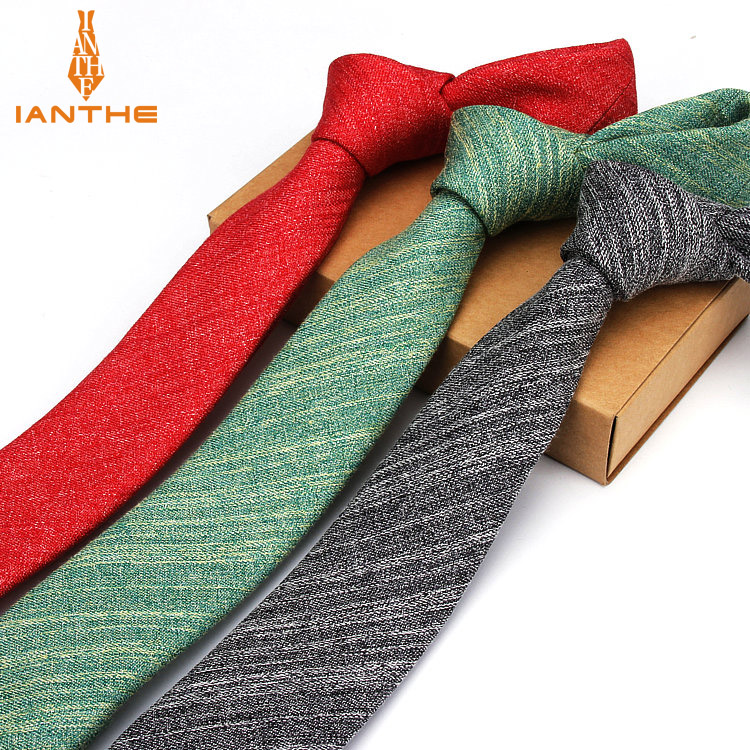 Brand New Mens Skinny Ties Solid Color Vintage Classic Wedding Necktie For Men Formal Business Skinny Slim Narrow Neck Ties 6cm