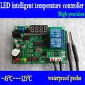 High precision digital display intelligent temperature controller temperature difference instrument with 2 probe
