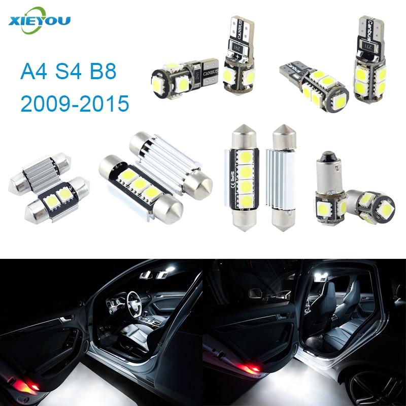 A4 S4 B8 üçün XIEYOU 14 ədəd LED Canbus Daxili işıqlar dəsti - Avtomobil işıqları - Fotoqrafiya 1