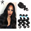 Malaysian Body Wave With Closures Malaysian Virgin Hair Body Wave With Rosa Hair Products Closure Unprocessed Human Hair Weaves