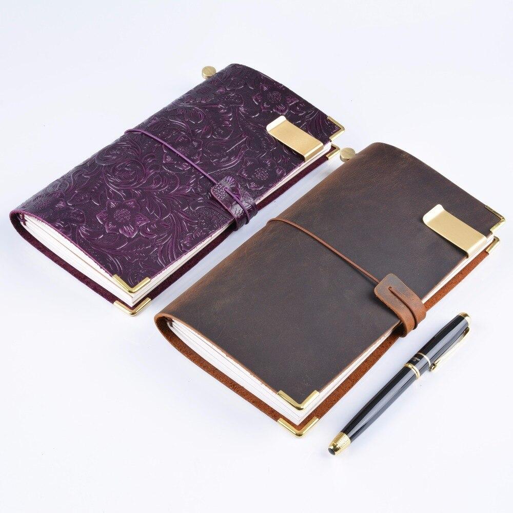 Hot Sale 100% äkta läder anteckningsbok handgjorda vintage kohid - Block och anteckningsböcker - Foto 6