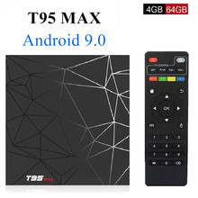 лучшая цена T95MAX Android 9.0 Smart 6K TV BOX 4GB RAM 64GB ROM Allwinner H6 Quad Core H.265 HD 2.4G Wifi set-top tvbox T95 MAX Set Top Box