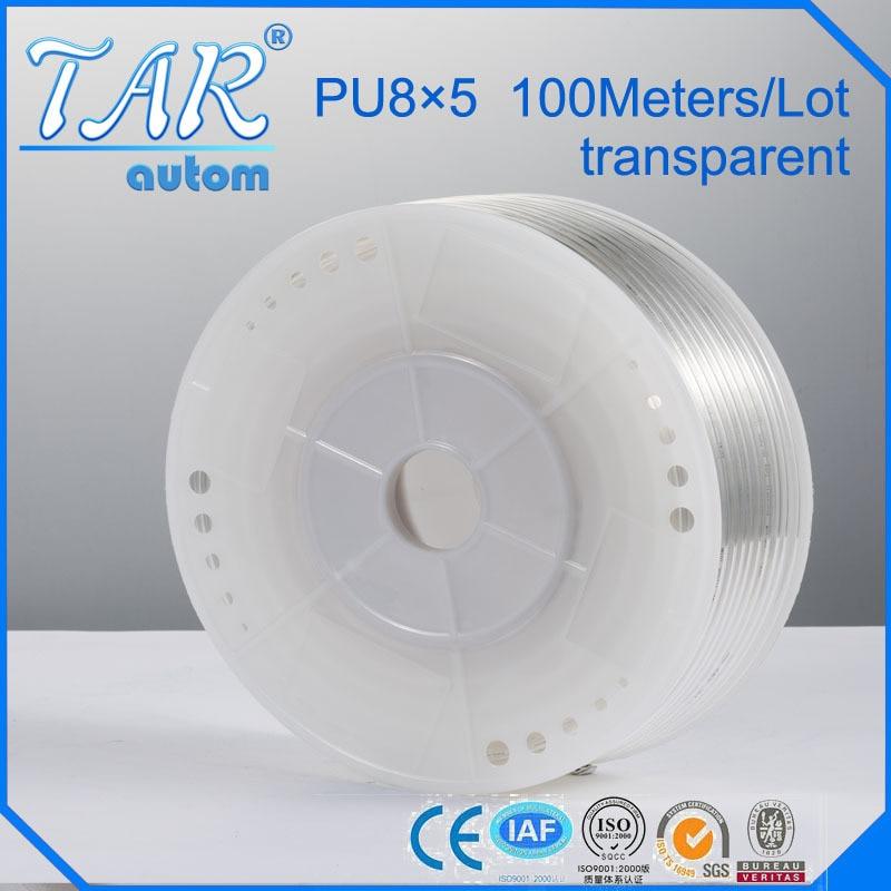 8mm*5mm 100m pu tube,pu pneumatic tube,polyurethane pu tube, air tube,air hose tubing transparent color цена