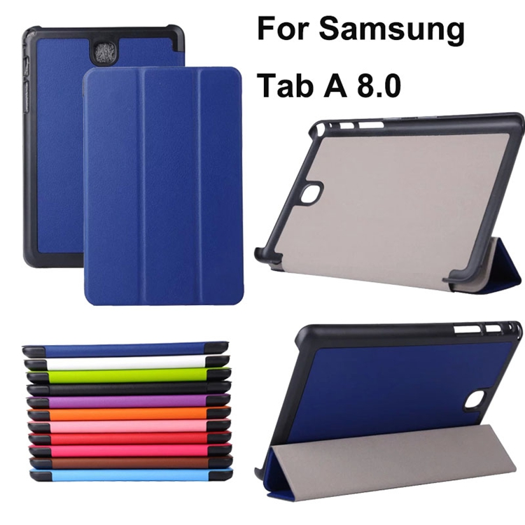 For Samsung Galaxy Tab A 8.0 T350 T355C P350 P355C Case 3 Folding Flip PU Leather Case Stand Cover