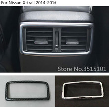 car styling garnish cover trim rear upside Air conditioning Outlet Vent 1pcs For Nissan X-trail xtrail T32/Rogue 2014 2015 2016
