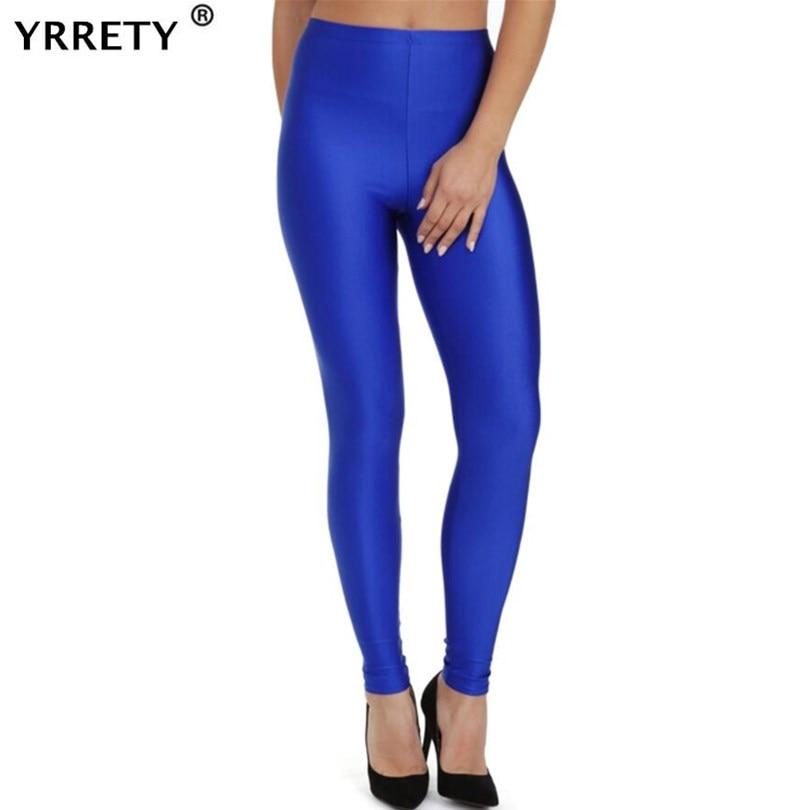 YRRETY 2020 Women Slim Spandex Leggings Solid Candy Color Neon Leggings Adventure Time Skinny High Elastic Female Pants Leggins