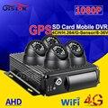 CCTV в режиме реального времени наблюдения 4G gps Wifi двойной SD 4CH автомобильный Мобильный Dvr комплекты 4 шт. Крытый 2.0Mp AHD Автомобильная камера для ...