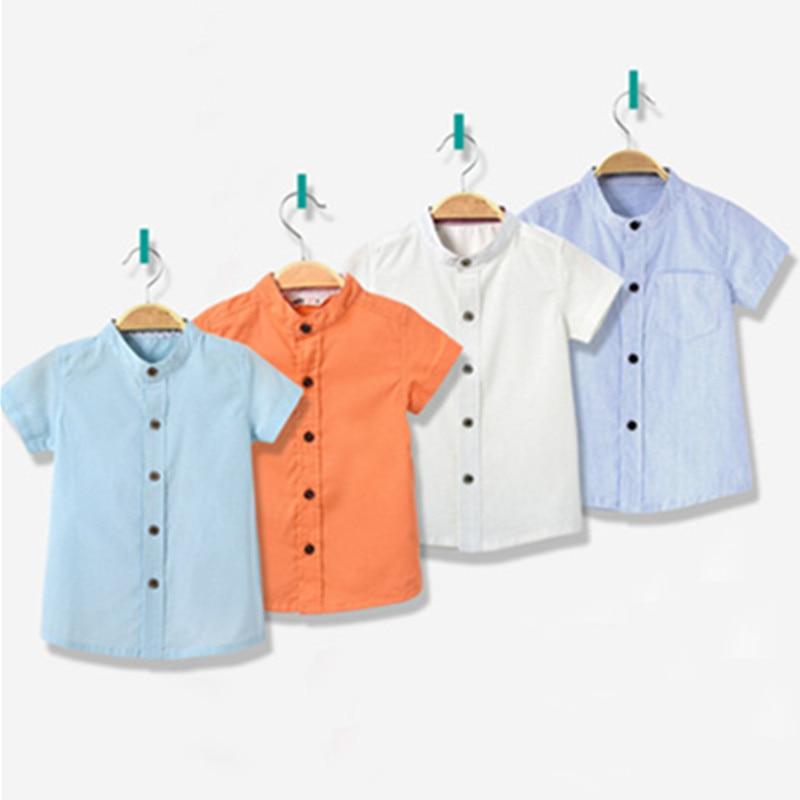 baby boys short sleeve collar shirts infant toddler boy