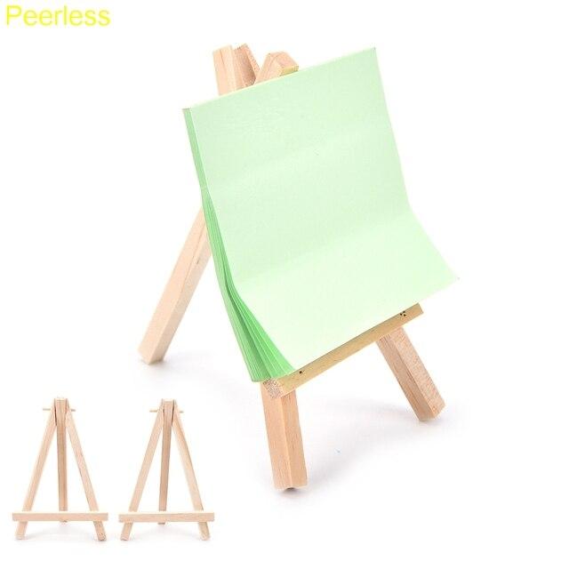 Impareggiabile 5 Pz/lotto DIY Mini Arte In Legno Titolare Artwork ...
