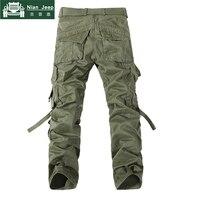2018 Brand Mens Cargo Pants Army Military Cotton Pants pockets Baggy Mens Pants Sweatpants track pants pantalon homme Size 40 42 1