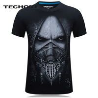 18 Style S 6XL 3D T Shirt Mens Hot 2017 Summer Animal Angel Ugly Male Printed