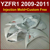 New white Injection mold Motorcycle parts for YAMAHA fairings YZF R1 09 10 11 12 YZF R1 2009 2010 2011 bodywork YZF1000 +7Gifts