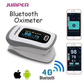 Oxímetro de pulso Dedo Oxímetro De Pulso De Dedo oxímetro de pulso SpO2 Saturação Metro conectar IOS Android APP Telefone por Bluetooth