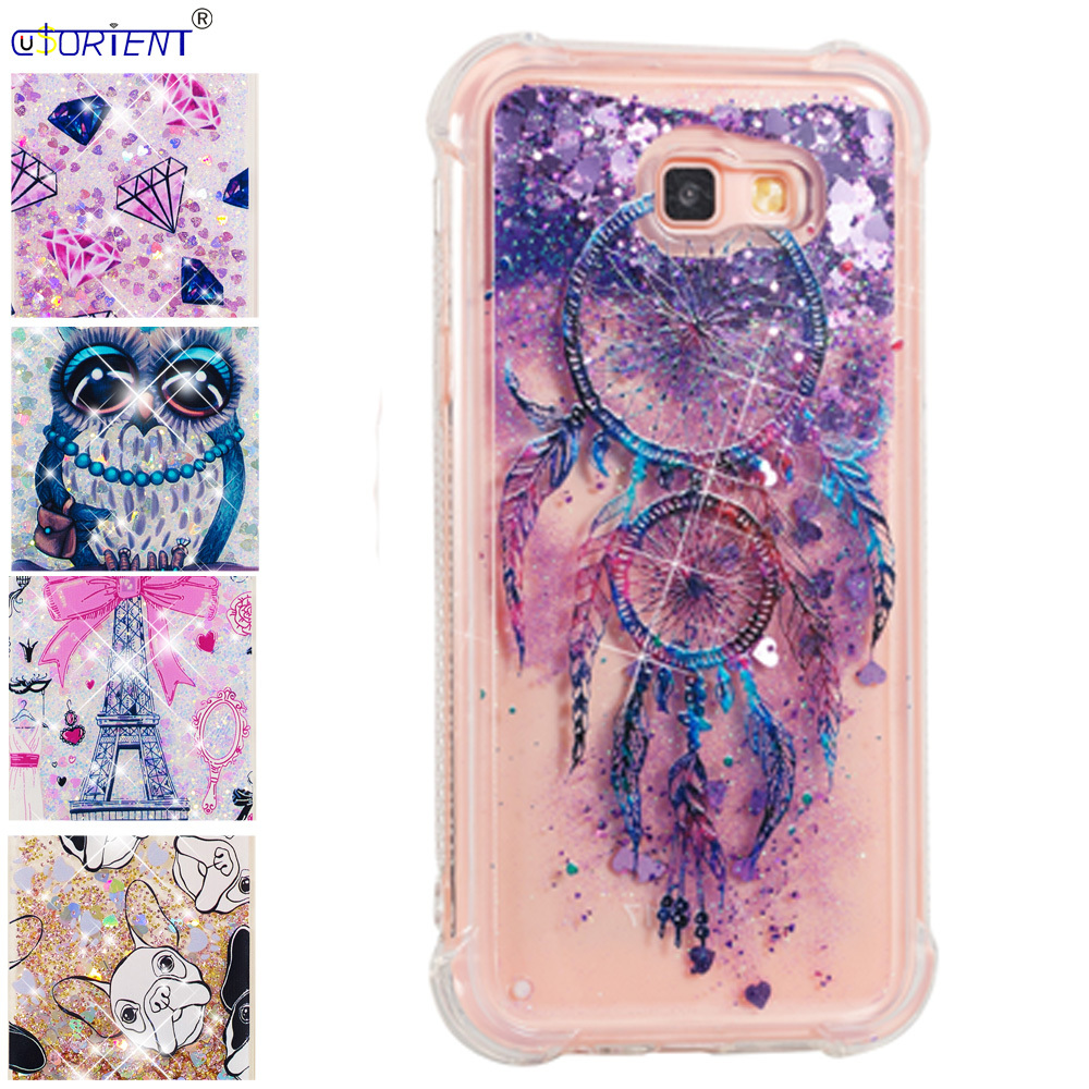 Just Phone Funda For Samsung Galaxy A7 2017 Dynamic Liquid Quicksand Shockproof Case Sm-a720f/ds Sm-a720x A720f Silicone Bumper Cover High Quality Half-wrapped Case