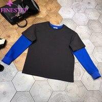 100% хлопок кофты для женщин 2019 осень зима модные пуловеры лоскутное с длинным рукавом толстовки блузка укороченный пуловер