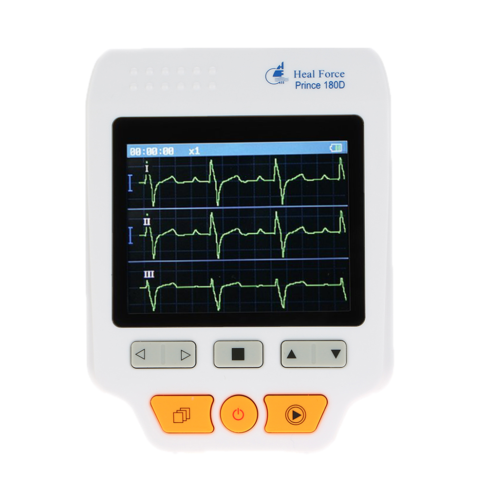 Heal Force Prince 180D Professional ECG Monitor Handheld LCD Heart Monitor Electrocardiogram ECG Monitoring Machine Health