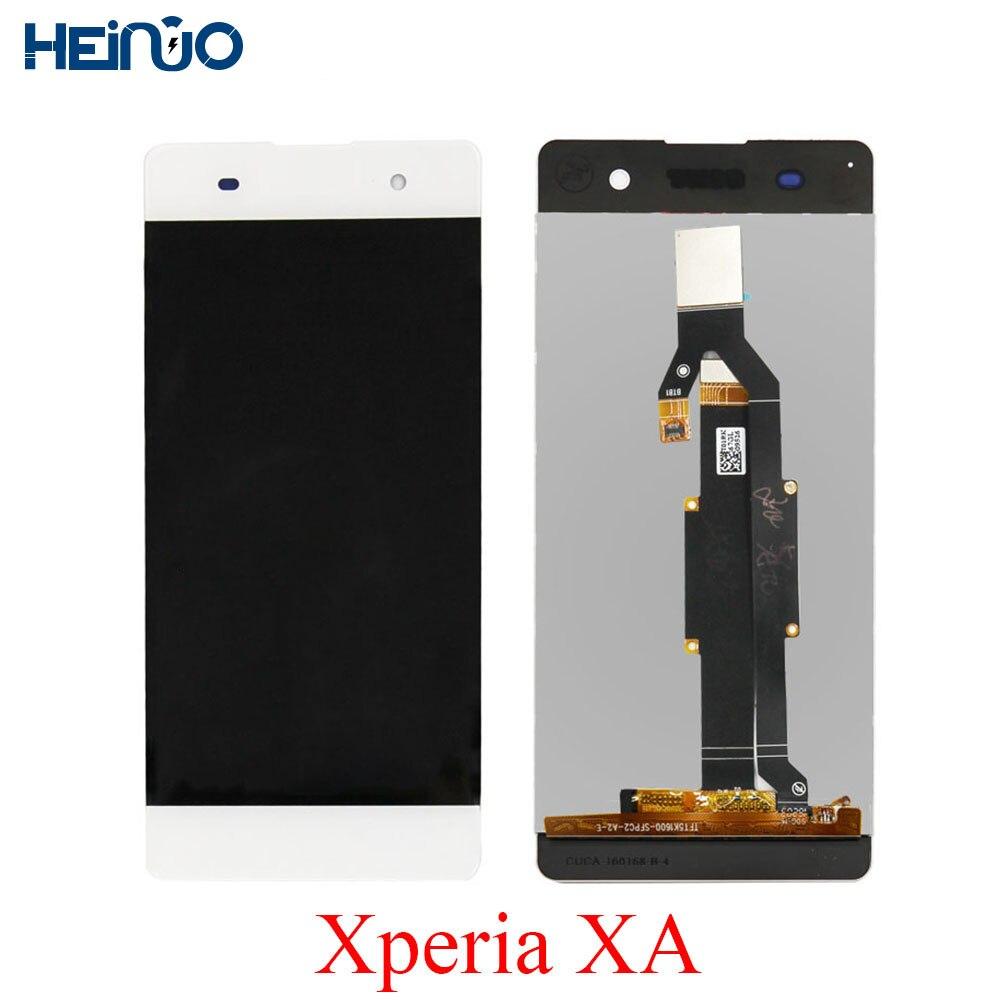 Lcd d'origine Pour Sony Xperia XA LCD Affichage pantalla pour F3111 F3112 F3113 F3115 F3116 Écran tactile Assemblée + cadre remplacer Une Partie