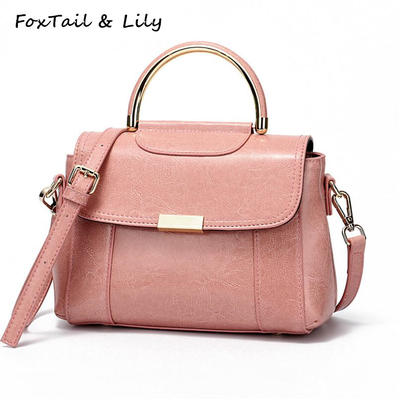 купить FoxTail & Lily Luxury Handbags Women Bags Designer Genuine Leather Shoulder Messenger Bag Elegant Lady Small Tote Crossbody Bag по цене 2600.9 рублей
