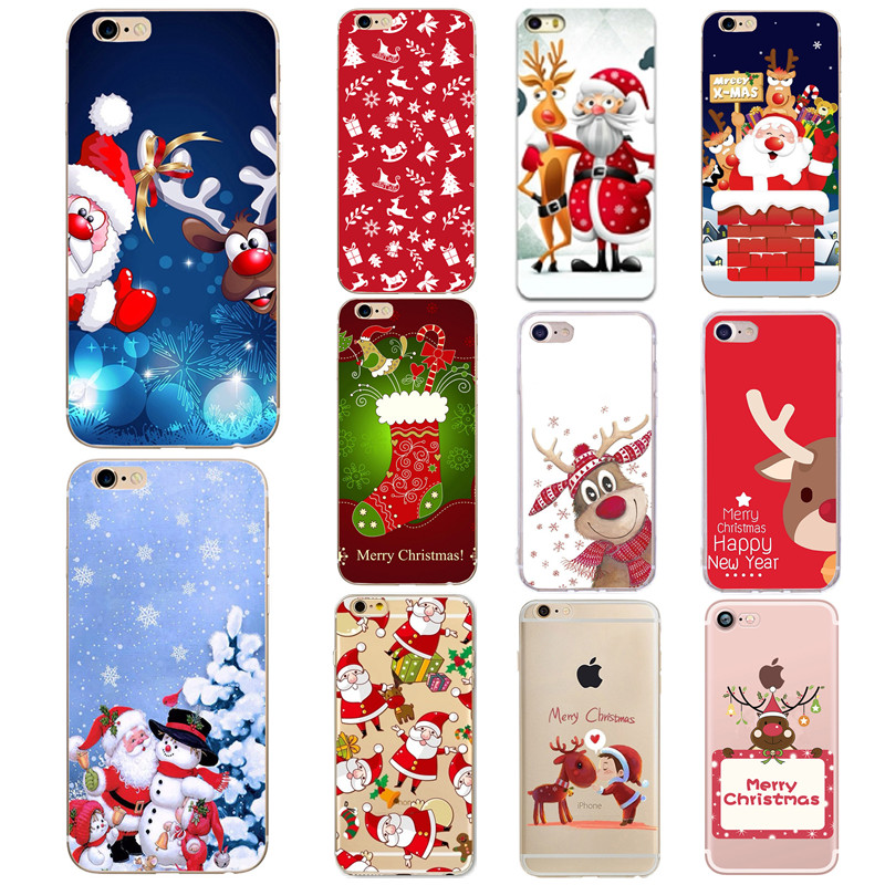 Silicone Phone <font><b>Cases</b></font> For Iphone 7 Plus 6 6S 5 5S SE 8 Plus X XR XS Max <font><b>Case</b></font> Christmas TPU <font><b>Case</b></font> for <font><b>Huawei</b></font> <font><b>P20</b></font> <font><b>Lite</b></font> P <font><b>Smart</b></font> <font><b>CASES</b></font> image