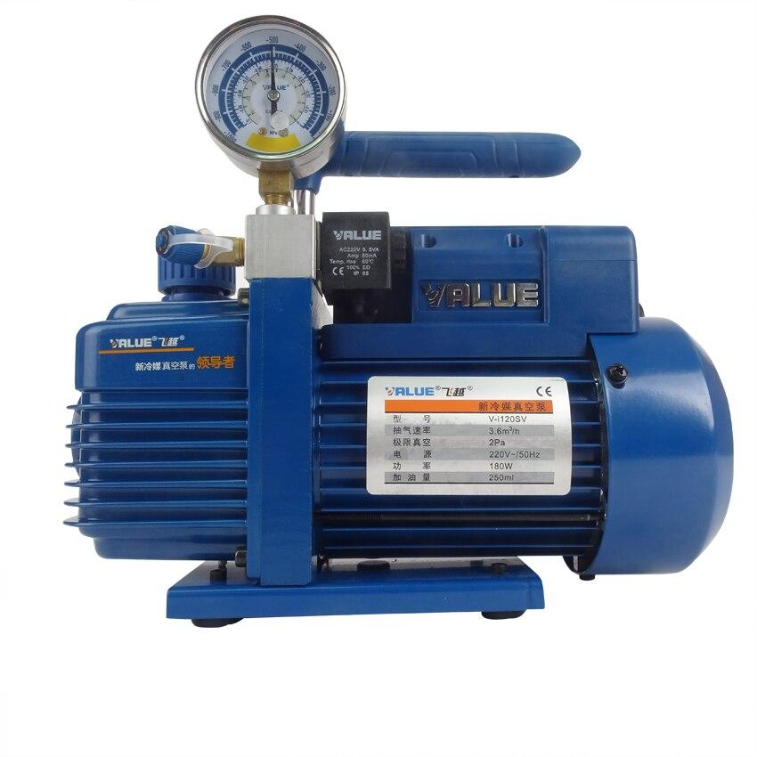 V-i120SV 220 V 180 W nouvelle pompe à vide réfrigérant pompe de climatisation pour R410a, R407C, R134a, R12, R22