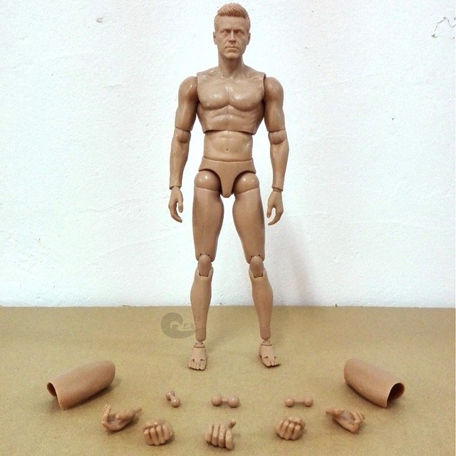 30cm Simulation silicone male model Art mannequin modeling human ...
