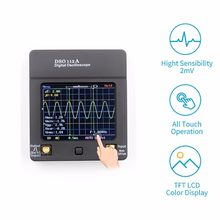 Portable Recharging TFT Mini Digital Oscilloscope USB Touch Screen Oscilloscope Interface 2MHz 5Msps(China)