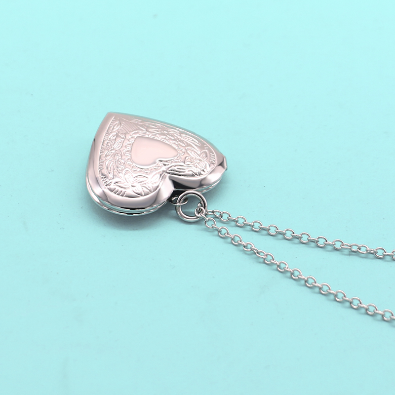 Fashion beautiful heart-shaped Women / Girl new style High quality 925 sterling silver new plated gold necklace