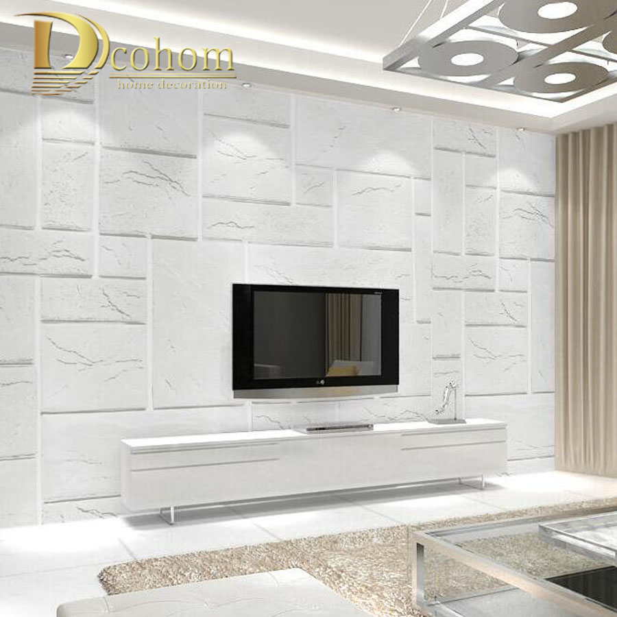 High Quality Embossed Yellow White Brick Wallpaper For Walls 3 D Texture Wall Paper Bedroom Living Room Sofa Background Decor элтон джон elton john goodbye yellow brick road deluxe edition 2 cd